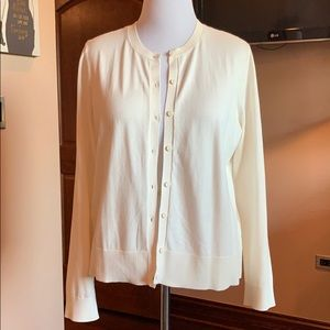Cream Button-down Cardigan